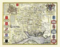 """John Speed Map of Hampshire 1611: 20"""" x 16"""" Photographic Print of the County of Hampshire - England (Sheet map, flat)"""