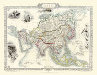 "John Tallis Map of Asia 1851: 20"" x 16"" Photographic Print of Asia (Sheet map, rolled)"