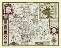 John Speeds Map of Worcester 1611: Colour Print of Map of Worcestershire 1611 by John Speed (Sheet map, flat)
