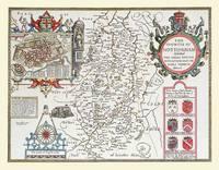 John Speeds Map of Nottinghamshire 1611: Colour Print of County Map of Nottinghamshire 1611 by John Speed (Sheet map, flat)
