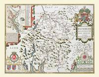 John Speeds Map of Westmoreland 1611: Colour Print of County Map of Westmoreland 1611 by John Speed (Sheet map, flat)