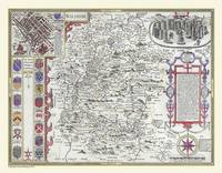 John Speeds Map of Wiltshire 1611: Colour Print of County Map of Wiltshire 1611 by John Speed (Sheet map, flat)