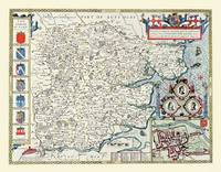 John Speeds Map of Essex 1611: Colour Print of County Map of Essex 1611 by John Speed (Sheet map, flat)