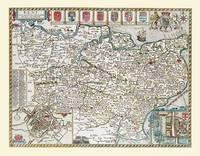 John Speeds Map of Kent 1611: Colour Print of County Map of Kent 1611 by John Speed (Sheet map, flat)