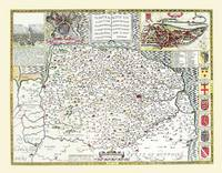John Speeds Map of Norfolk 1611: Colour Print of County Map of Norfolk 1611 by John Speed (Sheet map, flat)