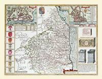John Speeds Map of Northumberland 1611: Colour Print of County Map of Northumberland 1611 by John Speed (Sheet map, flat)