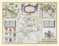 """John Speed Map of Huntingdonshire 1611: 30"""" x 25"""" Large Photographic Poster Print of the County of Huntinghamshire - England (Sheet map, rolled)"""
