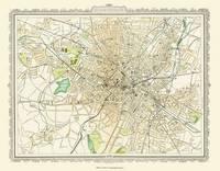 Map of Birmingham 1898: Photographic Print of Map of Birmingham 1898 (Sheet map, flat)