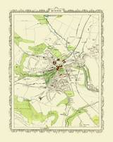 Map of Buxton 1898: Photographic Print of Map of Buxton 1898 (Sheet map, flat)
