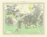 Map of Plymouth and Devonport 1898: Photographic Print of Map of Plymouth and Devonport 1898 (Sheet map, flat)