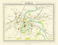 Map of Durham 1898: Photographic Print of Map of Durham 1898 (Sheet map, flat)