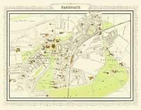 Map of Harrogate 1898: Photographic Print of Map of Harrogate 1898 (Sheet map, flat)
