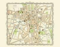 Map of Cheltenham 1898: Colour Print of Map of Cheltenham 1898 (Sheet map, flat)