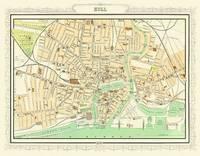 John Bartholomew's Map of Hull 1898: Colour Print of Map of Hull 1898 (Sheet map, flat)