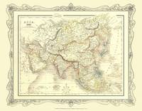 Map of Asia 1852: Colour Photographic Print of Map of Asia 1852 (Sheet map, flat)