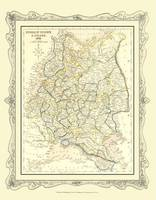 H Collins Map of Russia (including Poland) 1852: Colour Photographic Print of Map of Russia in Europe 1852 (Sheet map, flat)