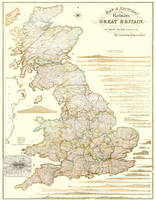 Map and Sections of the Railways of Great Britain 1839 by George Bradshaw: Laminated Large Rolled Map of the Sections of the Railways of Great Britain 1839 (Sheet map, rolled)