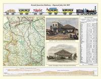 Laminated Poster Print of Map of the Grand Junction Railway (Sheet map, rolled)