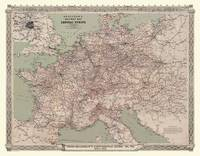 Bradshaws Continental Railway Map of Central Europe 1913: Luxury Rolled Historic Print - Bradshaw Railway Maps and Plans (Sheet map, rolled)