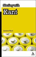 Starting with Kant - Starting with... (Paperback)