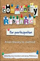 Community research for participation: From theory to method (Paperback)