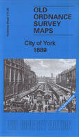 City of York 1889: Yorkshire Sheet 174.06A: Coloured Edition - Old Ordnance Survey Maps of Yorkshire (Sheet map, folded)