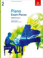 Piano Exam Pieces 2015 & 2016, Grade 2: Selected from the 2015 & 2016 syllabus - ABRSM Exam Pieces (Sheet music)