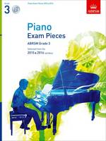 Piano Exam Pieces 2015 & 2016, Grade 3, with CD: Selected from the 2015 & 2016 syllabus - ABRSM Exam Pieces (Sheet music)