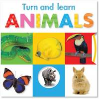Turn and Learn Animals - Busy Baby (Board book)