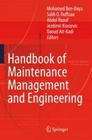 Handbook of Maintenance Management and Engineering (Hardback)