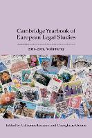 Cambridge Yearbook of European Legal Studies, Vol 13, 2010-2011 - Cambridge Yearbook of European Legal Studies (Hardback)