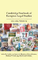 Cambridge Yearbook of European Legal Studies, Vol 15 2012-2013 - Cambridge Yearbook of European Legal Studies (Hardback)
