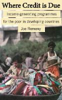 Where Credit is Due: Income-generating programmes in developing countries (Paperback)