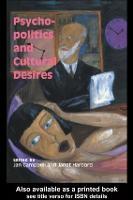 Psycho-Politics And Cultural Desires (Paperback)