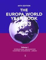 Europa World Year Bk 2003 V1 (Hardback)