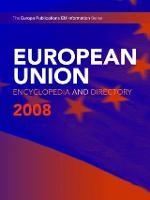 European Union Encyclopedia & Directory 2008 (Hardback)