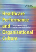 Healthcare Performance and Organisational Culture (Paperback)