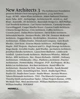 New Architects 3: Britain's Best Emerging Practices (Hardback)