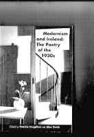 Modernism and Ireland: Poetry of the 1930's - Poetry/literary criticism (Paperback)