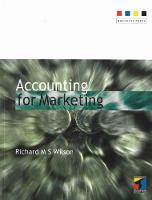 Accounting for Marketing (Paperback)