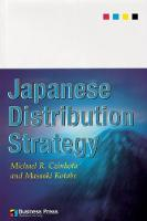 Japanese Distribution Strategy (Paperback)