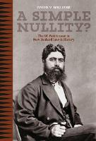 A Simple Nullity The Wi Parata Case in New Zealand law and History