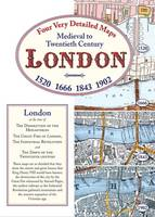 Medieval to Twentieth Century London: Four Very Detailed Maps (Sheet map, folded)