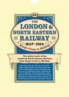 London & North Eastern Railway Map 1924 King's Cross to Mallaig (Sheet map)