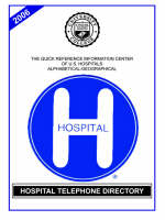 Hospital Telephone Directory, 2006 Edition (Paperback)