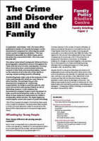 The Crime and Disorder Bill and the Family