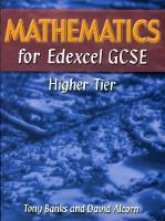 Mathematics for Edexcel GCSE Higher Tier (Hardback)