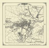 Keighley 1852 Map - Heritage Cartography Victorian Town Map Series (Sheet map, folded)