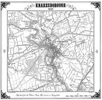 Knaresborough 1849 Map - Heritage Cartography Victorian Town Map Series (Sheet map, folded)