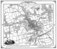 Morpeth 1859 Map - Heritage Cartography Victorian Town Map Series (Sheet map, folded)